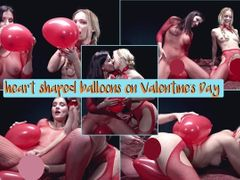 herzförmige Luftballons am Valentinstag