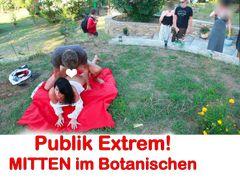 Public extrem!! Frei Fick im botanischen Garten!