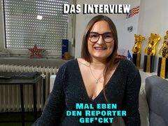 Das Interview. Mal eben den Reporter gefickt