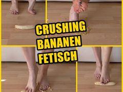 Crushing Bananen Fetisch