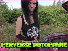 Perverse Car Breakdown! Poked in intead of hooked up