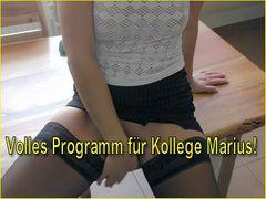 Volles Programm für Kollege Marius!