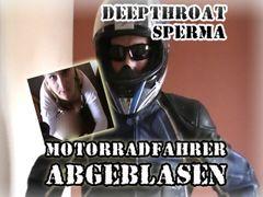 Motorradfahrer abgeblasen /// POV - DEEPTHROAT