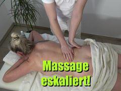Massage eskaliert! Ungefragt reingespritzt!