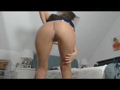 Sexy runder Arsch in bloßen Strumpfhosen
