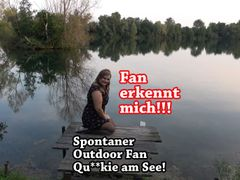 Fan erkennt mich!!! Spontaner Outdoor Fan Quickie am See!