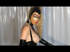 Latex Session with a Juggernaut - Pegging