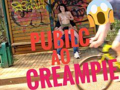 Public Ao Creampie jeder hat es gesehen!