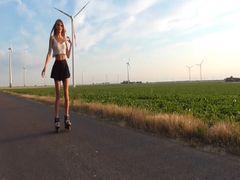 Krasser Piss beim Inline-Skates fahren !