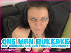 One Man Bukkake - Nailed deep to the Facial Showdown!