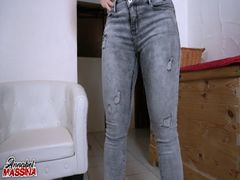 Der mega Jeans-Piss Orgasmus
