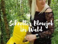 Schneller Blowjob im Wald