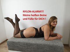 NYLON-ALARM!!! Meine heißen Beine und Füße für DICH!