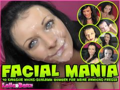 FACIAL MANIA - 40 KingSize Cum-Mud Bombs for my Cum-Mug!!!