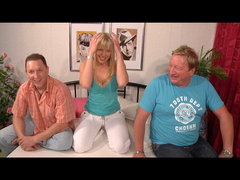 Nasty Gangbang! Husband and fat boyfriend having sex mit young blond girl!