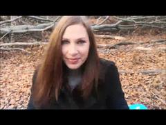 Outdoor im Wald selbst gefickt