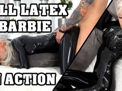 Full-Latex-Barbie in Action! SUPER WET!!!
