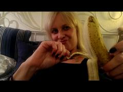 Fisting Sauerei mit der Banane