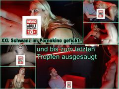 XXL Schwanz im Pornokino