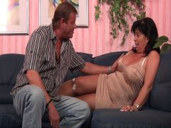 MILF shows what she has! GIANT TITS are FURNISHED