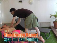 Hausfrauen Report I Blank mit dem Poolboy!