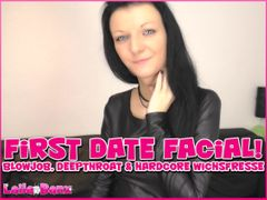 First Date Facial! Blowjob, Deepthroat & Hardcore Cumface