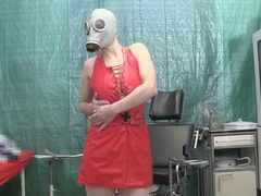 Gasmasken Handschuh Piss