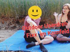 Outdoor USERFICK im Kornfeld!! Geil in den Sommer geritten