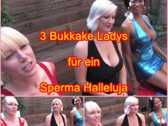 3 Bukkake Ladys für ein Sperma Halleluja