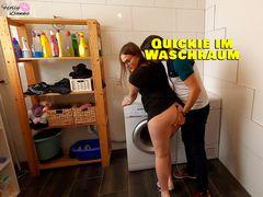Quickie auf der Waschmaschine