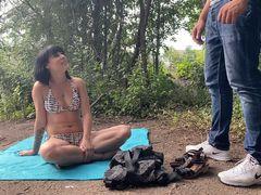 Sommer Sonne Ficken angesprochen und Durchgefickt - Public Creampie am See