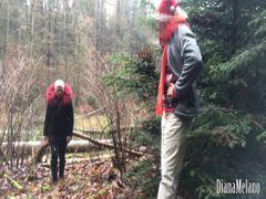Das erste mal im Wald! Blowjob mit lecker Spermaküsse