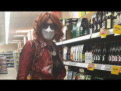 House maid Uschi goes grocery shopping