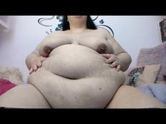 Mein fetter Bauch als deine Wichsvorlage