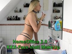 HomeOffice 2.0 I SpermaFace statt MakeUp