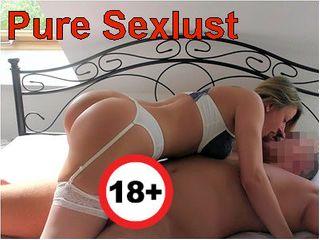 Pure Sexlust aufgestrapst zum Creampie-Finale