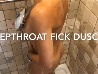 Deepthroat-Fick in der Dusche