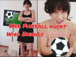 Wer Fußball kuckt wird Zwangsentsamt POV Cumshot