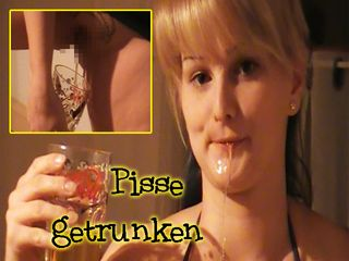Zum ersten mal Pisse getrunken!