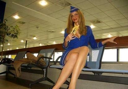 Deutschlands heisseste Stewardess!