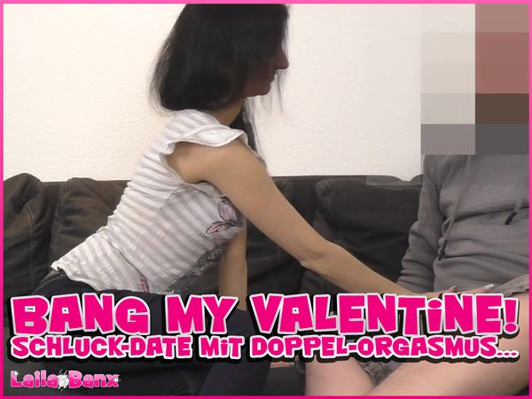 Bang my Valentine! Swallow-Date with Double-Orgasm...