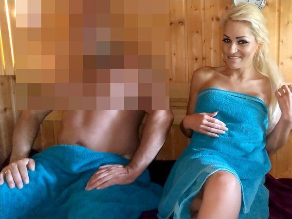 UNGLAUBLICHES SAUNA-SEXDATE : Perverser Saunagast bumst mich in 3 Stellungen !!