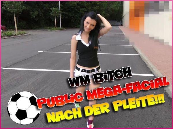 WorldCup Bitch - Public Mega-Facial after the Flop!!!