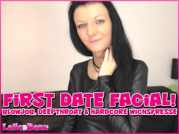 First Date Facial! Blowjob, Deepthroat & Hardcore Cumface