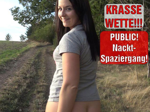 KRASSE WETTE!!! PUBLIC Nackt-Spaziergang!