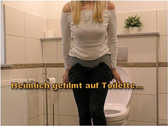 Heimlich gefilmt auf Toilette