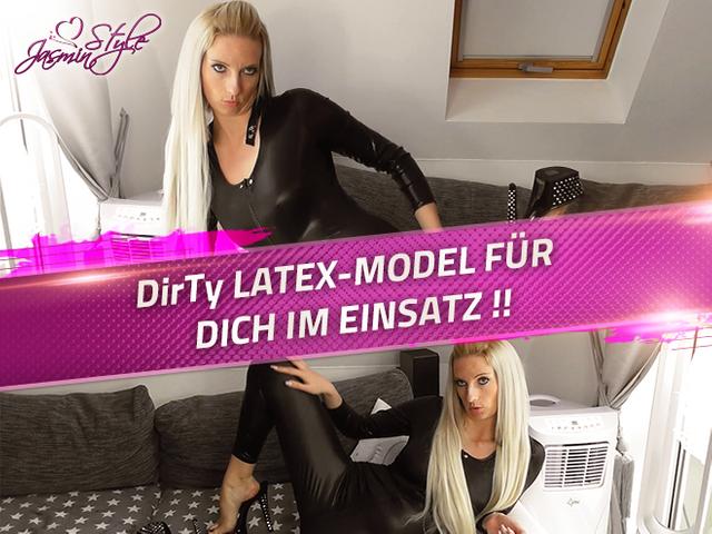 Dirty LATEX-MODEL FÜR DICH IM EINSATZ !!