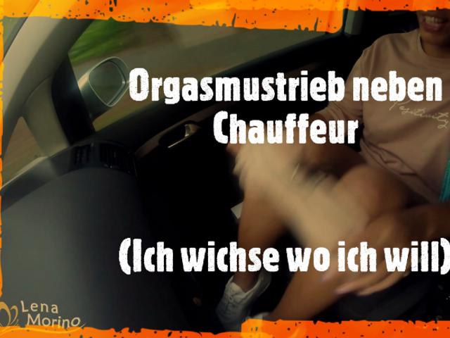 Orgasmustrieb neben Chauffeur