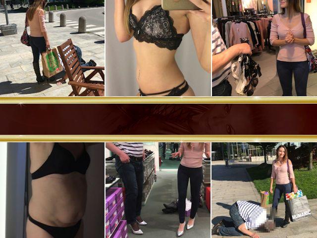 Realsklave outet sich beim Shopping!
