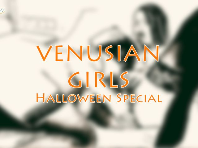 Halloween porn special Lesboclip with 19 year old Russian teen